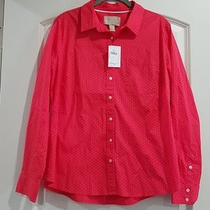 NWT button down blouse